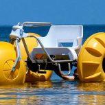 قایق تفریحی سه چرخه پدالی سه نفره فایبرگلاس