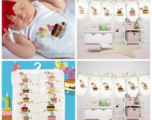 فروش عمده پک های ماهگرد نوزادی
